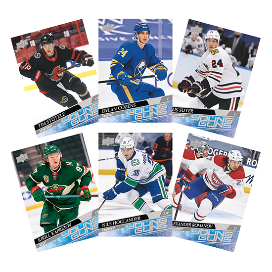 upper deck 2020 2021 young guns nhl rookies series two