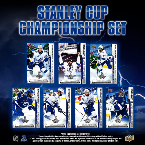 upper deck nhl 2020 stanley cup championship set tampa bay lightning