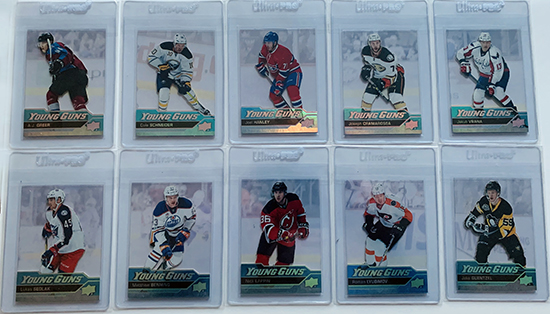 upper deck acetate young guns master collection super collector