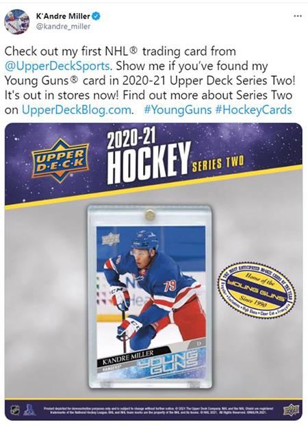 upper deck young guns rookie card kandre miller