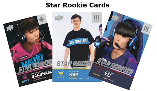 upper deck 2020 overwatch league series two star rookie cards