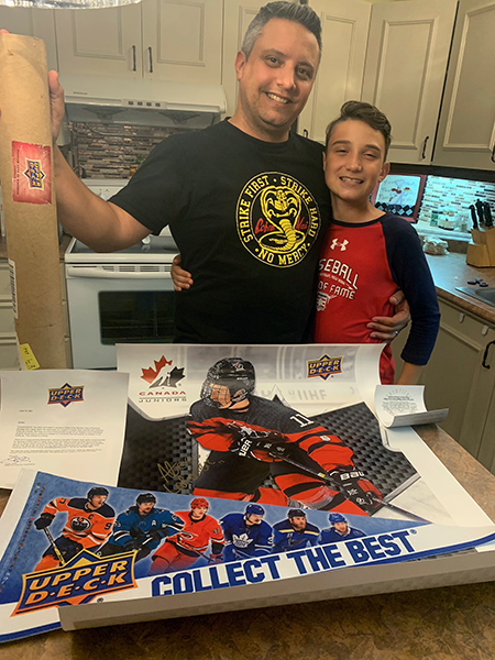 upper deck random acts of kindness fathers day alexis lafreniere