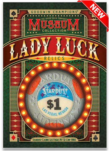 upper deck goodwin champions lady luck casino chip trading cards