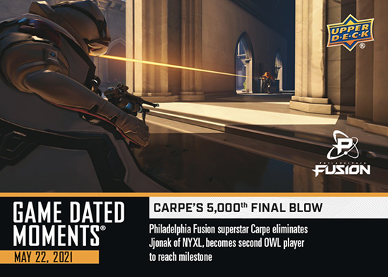 upper deck overwatch league game dated moments cards