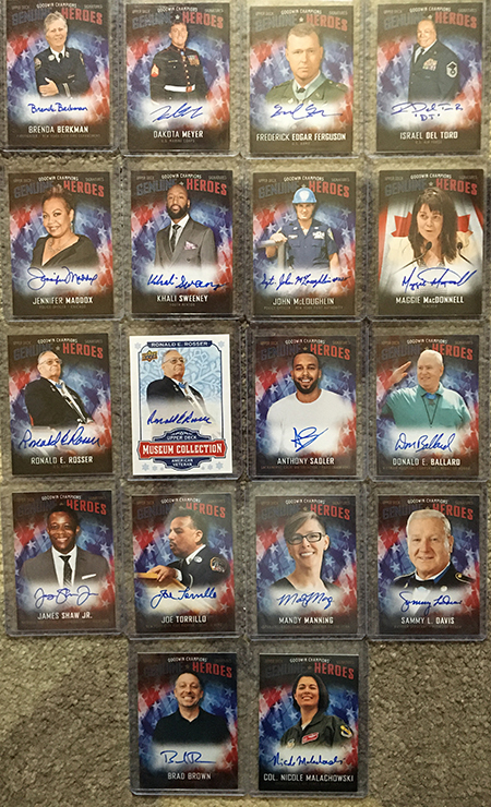 upper deck genuine heroes autograph trading cards