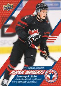 Alexis Lafreniere NHCD Rookie Moments Card