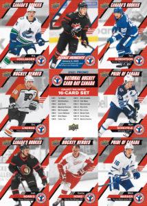 National Hockey Card Day Canada 9-card sheet