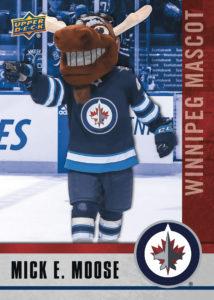Mick E. Moose NHCD Winnipeg Jets Mascot Card