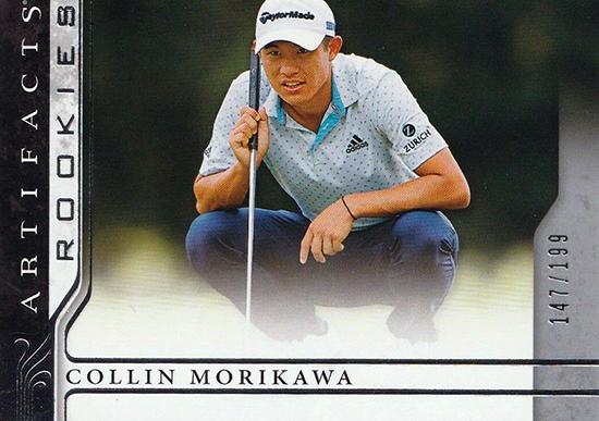 collin morikawa upper deck artifacts rookie card