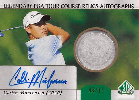 collin morikawa sp game used sand autograph relic memorabilia card