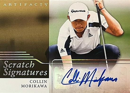 colling morikawa upper deck pga golf autograph card