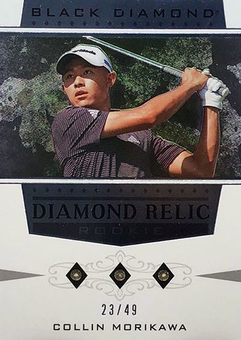 collin morikawa rookie black diamond relic card golf pga