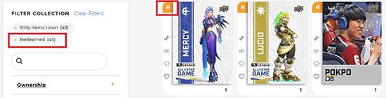 upper deck epack overwatch league esports redeemed achievement cards