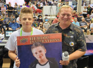 Upper Deck Honors Brody the Kid with a Heroic Inspirations Card at the National Sports Collectors Convention