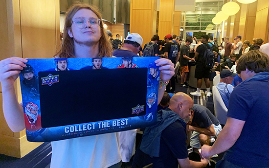 upper deck trade night national sports collectors convention event collector