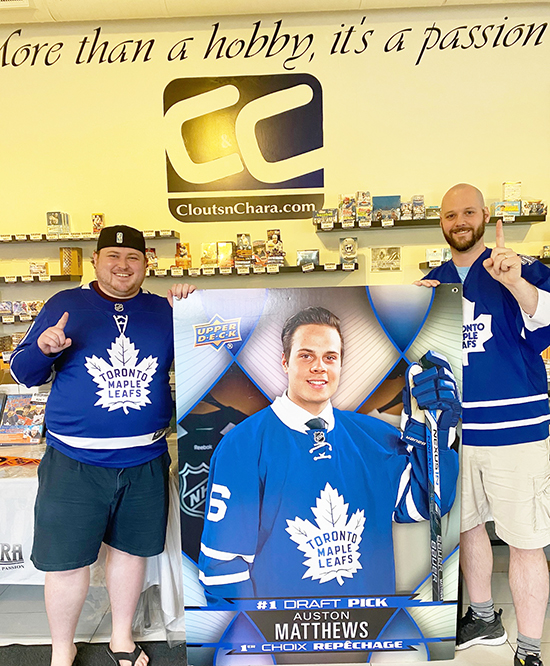 cloutsnchara kitchener toronto maple leafs store upper deck cards