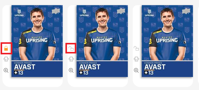 Showing lock and unlock button on Upper Deck e-Pack