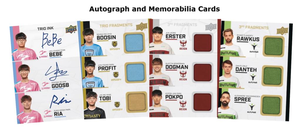 2020 Overwatch League Series 2 Autograph and Memorabilia cards