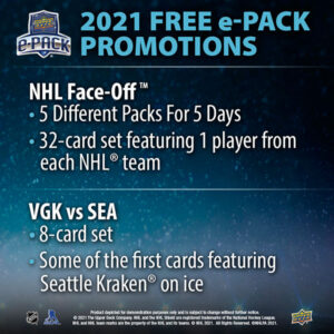 Upper Deck e-Pack Promotions During 2021-22 NHL Face Off