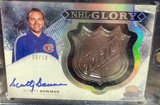 scotty bowman winning coach montreal canadiens upper deck the cup nhl glory autograph