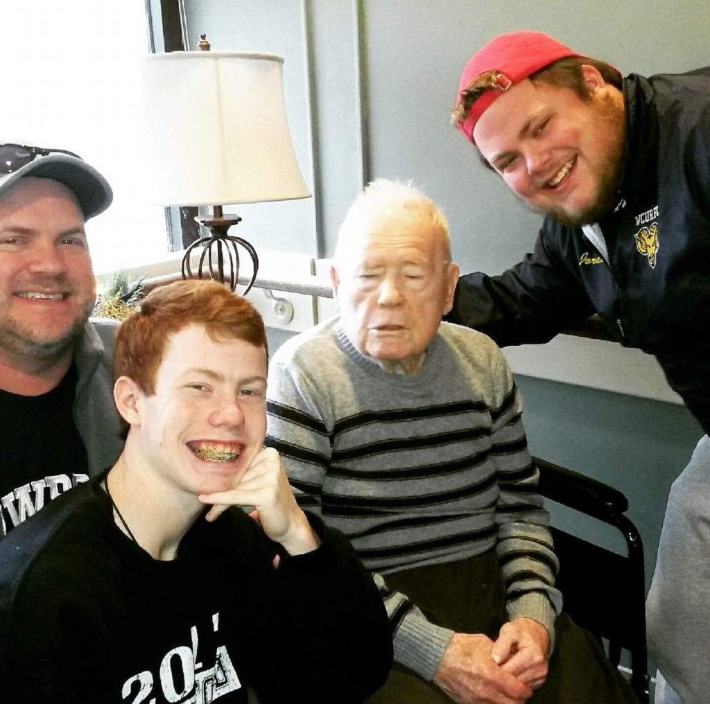 Ryan Jordan and his grandfather Gene