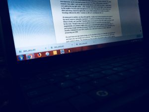 Laptop Word Document