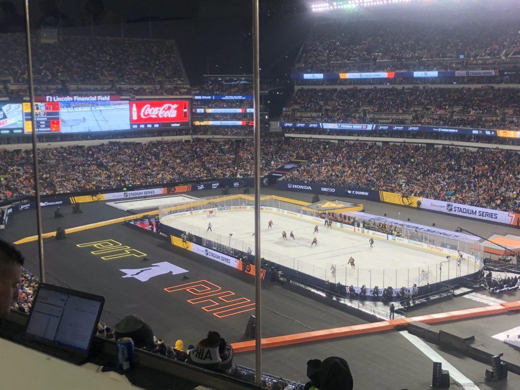 PR Intern at Philadelphia Flyers Sports Game