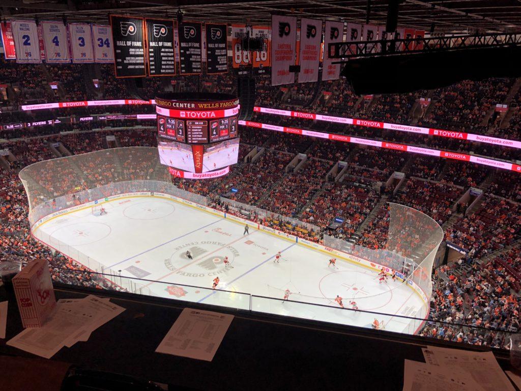 Philadelphia Flyers Sports PR Intern at Game