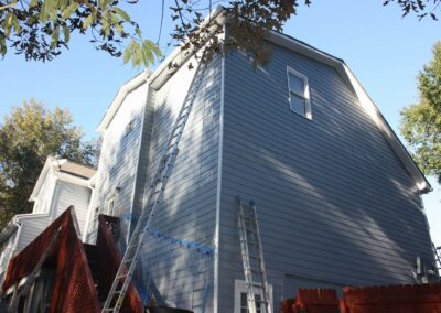 PRS roofing and siding painting project