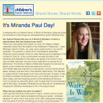 It's Miranda Paul Day!