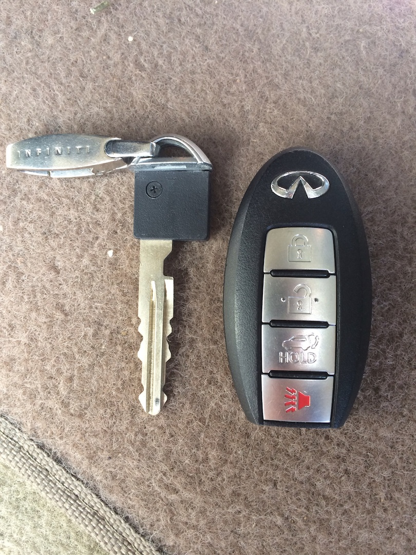Car keys isolated on the white background