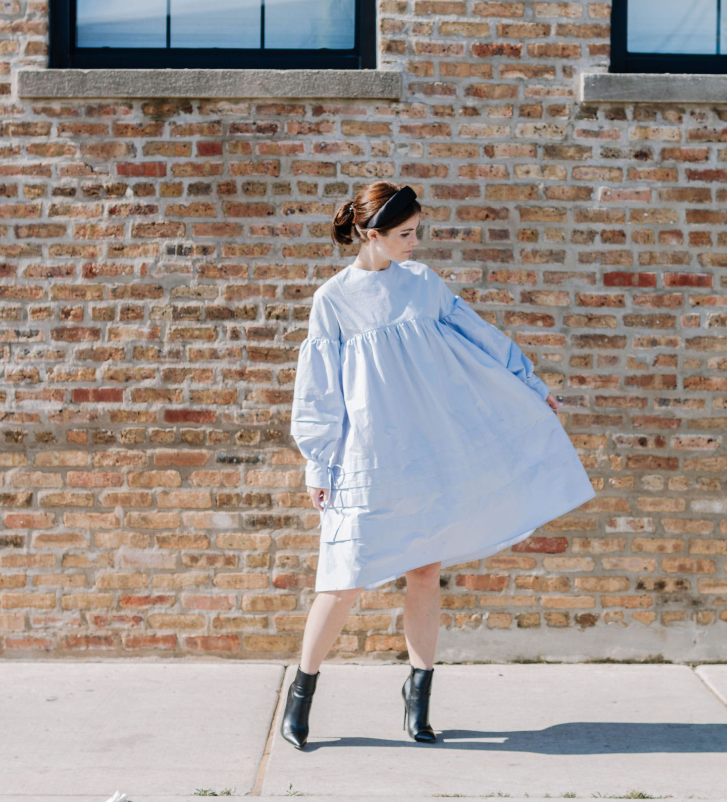 Handmade dress inspired by Cecilie Bahnsen