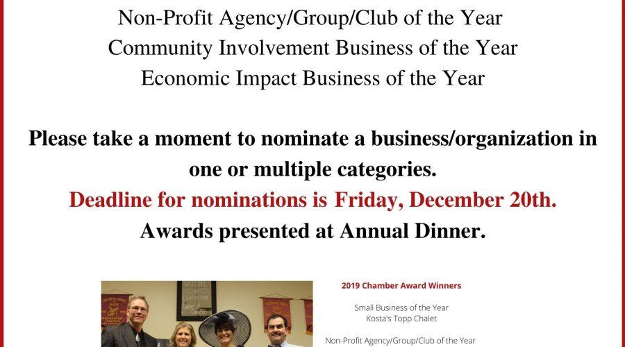 2020 Chamber Award Flyer