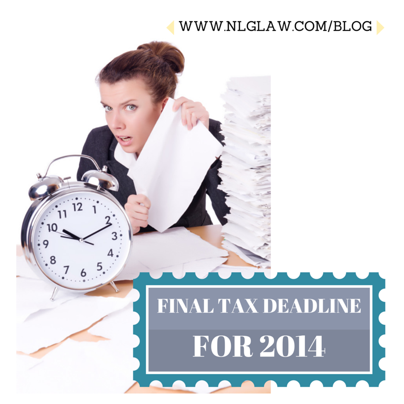 Final Tax Deadline for 2014