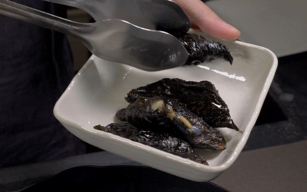 ink cuttlefish seaweed wraps