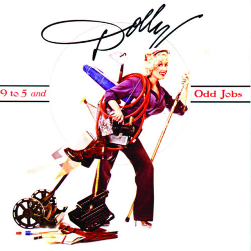 9To5 by Dolly Parton, from the movie 9To5, very popular in 1980