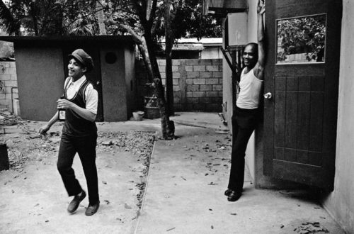 Rare photograph of AUGUSTUS PABLO with KING TUBBY