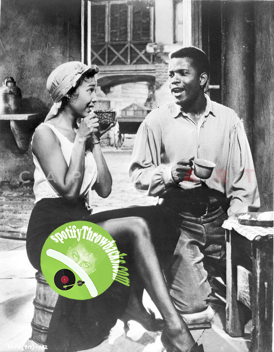 """Sidney Poitier in a scene from the musical play """"Porgy and Bess."""" - SpotifyThrowbacks.com"""