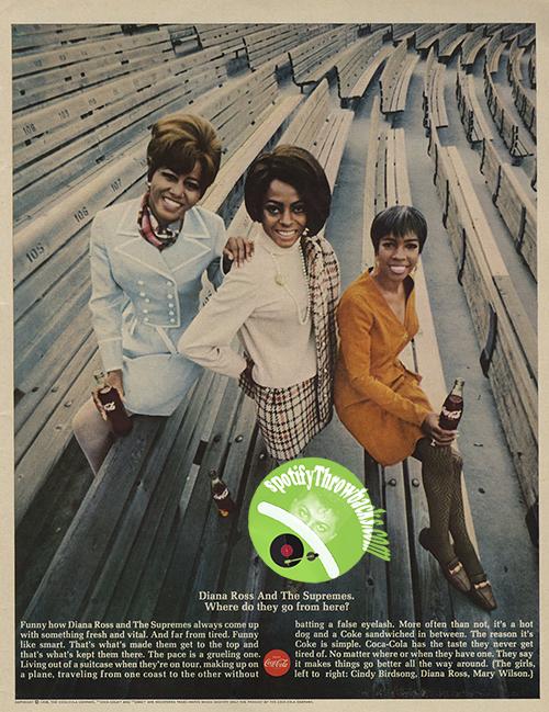 The Supremes - Coke Ad - SpotifyThrowbacks.com