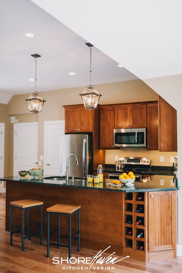 Cherry Carriage House Kitchen by ShoreHaven Kitchen Design