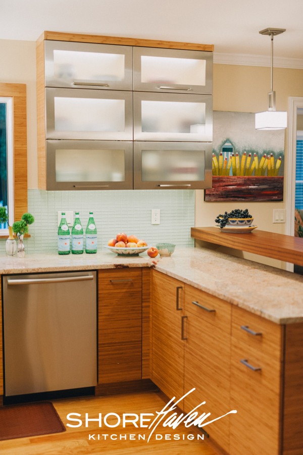 Bamboo and Stainless Steel Cabinetry