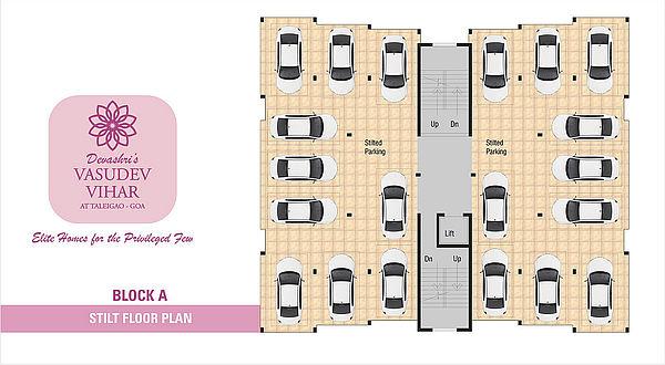 Block A - Stilt Floor Plan