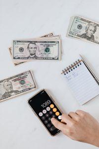 Dollars illustrating profits