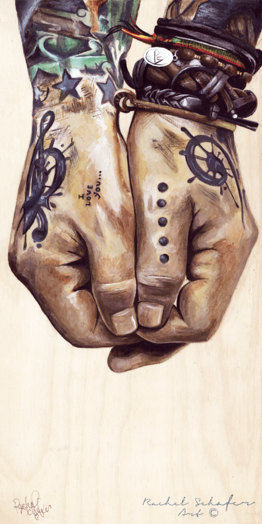 Tattoo Hands Painting