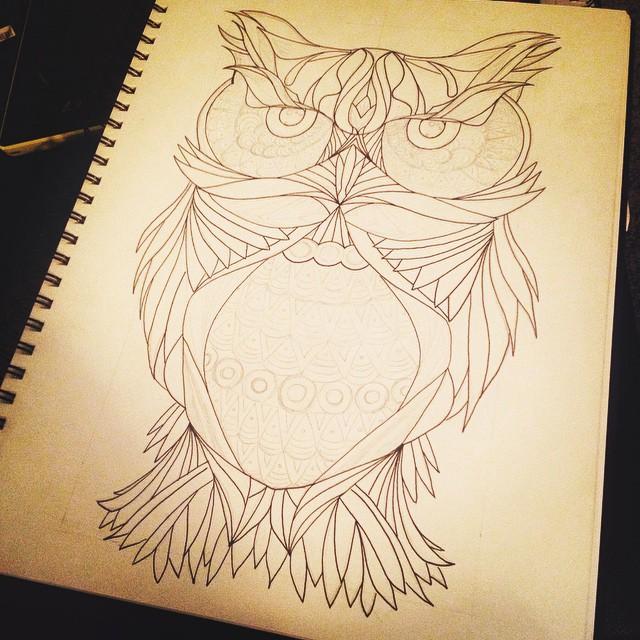 Inked Owl