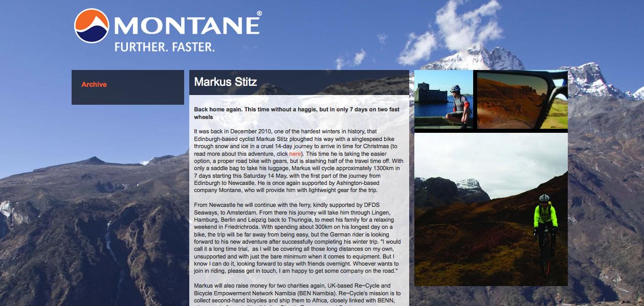 Montane Website 13/05/2011
