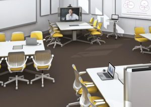 Private School, Steelcase Media Scape Tables with Steelcase Cobi chairs
