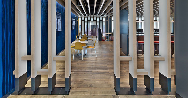 Financial Firm, Custom Millwork and Custom Steelcase AFD Office Furniture