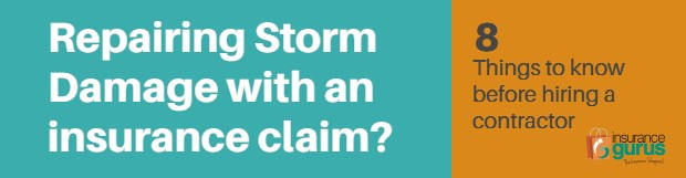 How to get storm damage repairs for an insurance claim