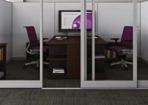 Large Government Institution, Steelcase Walls